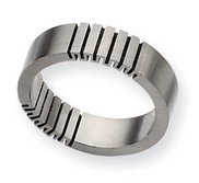 Titanium Black Accent 6mm Satin Wedding Band