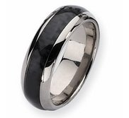 Titanium Carbon Fiber 8mm Polished Band