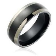 Titanium Two tone 7mm Polished Wedding Band