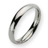 Titanium Polished Comfort Fit 4mm Wedding Band