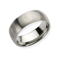 Titanium 8mm Brushed Comfort Fit Wedding Band