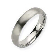 Titanium 5mm Brushed Comfort Fit Wedding Band