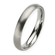 Titanium 4mm Brushed Comfort Fit Wedding Band