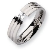Titanium 6mm 0 25ct  Diamond Wedding Band