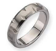 Titanium Notched 6mm Satin Wedding Band