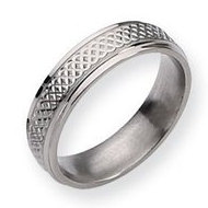 Titanium Weave Design 6mm Polished Wedding Band