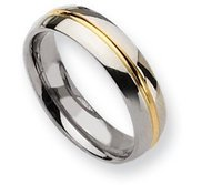Titanium 14k Gold Plated 6mm Polished Wedding Band