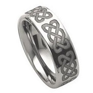 Dura Tungsten 8mm Celtic Knot Polished Wedding Band