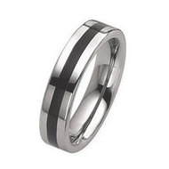 Dura Tungsten Enameled 6mm Polished Wedding Band