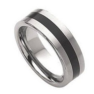 Dura Tungsten Enameled 8mm Brushed Wedding Band