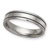 Dura Tungsten Grooved Flat 6mm Polished Wedding Band