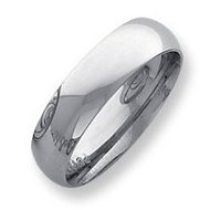 Palladium Medium Weight 6mm Comfort Fit Wedding Band