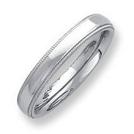 Palladium Milgrain Comfort Fit 4mm Band