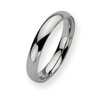 Stainless Steel 4mm Polished Wedding Band