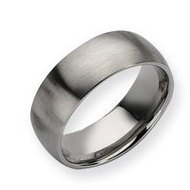 Stainless Steel 8mm Brushed Wedding Band