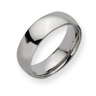 Stainless Steel 7mm Polished Wedding Band