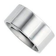 Sterling Silver 9mm Flat Comfort Fit Wedding Band