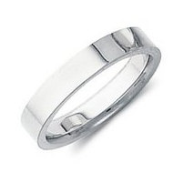 Sterling Silver 3mm Flat Comfort Fit Wedding Band