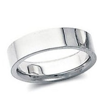 Sterling Silver 5mm Flat Comfort Fit Wedding Band