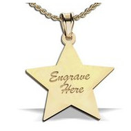 14K Yellow Gold Star Shape Pendant