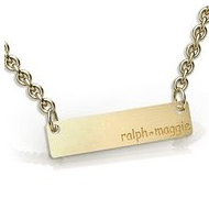 Personalized Thin Engraveable Rectangle Pendant w  Satin Finish