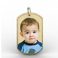Photo Engraved Dog Tag with Border Photo Pendant