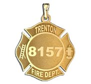 Personalized Trenton Fire Department Badge