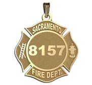 Personalized Sacramento Fire Department Badge