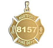 Personalized Hartford Fire Department Badge