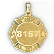 Personalized Paterson Fire Department Badge