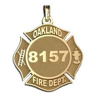 Personalized Oakland Fire Department Badge