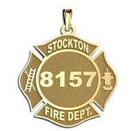 Personalized Stockton Fire Department Badge
