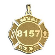 Personalized Santa Ana Fire Department Badge