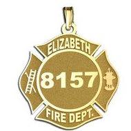 Personalized Elizabeth Fire Department Badge