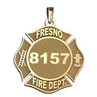 Personalized Fresno Fire Department Badge