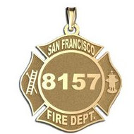 Personalized San Francisco Fire Department Badge