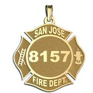 Personalized San Jose Fire Department Badge