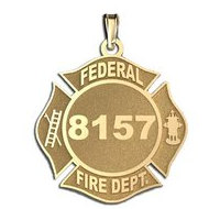 Personalized Federal Fire Department Badge