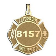 Personalized California Department of Forestry   Fire Protection Badge