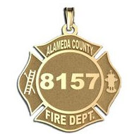 Personalized Alameda County Fire Department Badge