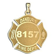 Personalized Danbury Fire Department Badge