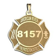Personalized American River Fire Protection District Badge