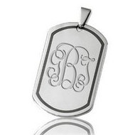 Stainless Steel Dog Tag Pendant with Immerse Plating