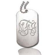 Dog Tag with Pierced Hole