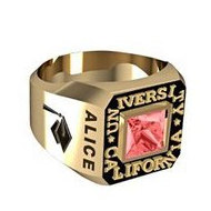 Women s Square Princess Class Ring