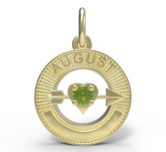 BIRTHSTONES AUGUST ENGRAVABLE