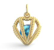 HEART BIRTHSTONE MAR