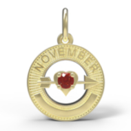 BIRTHSTONES NOVEMBER ENGRAVABLE