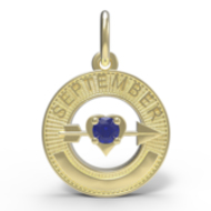 BIRTHSTONES SEPTEMBER ENGRAVABLE