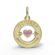 BIRTHSTONES OCTOBER ENGRAVABLE